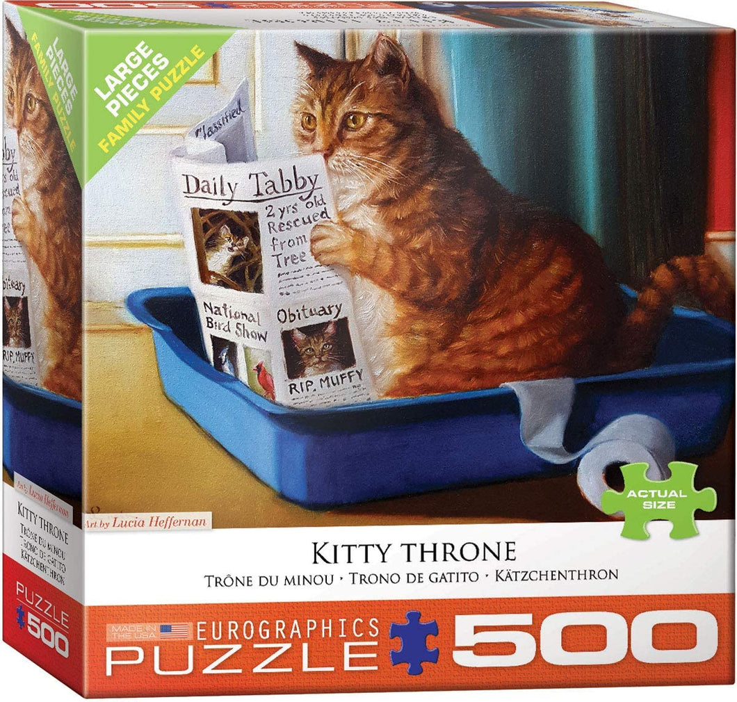 Eurographics 500 Large Piece Jigsaw Puzzle - Kitty Throne
