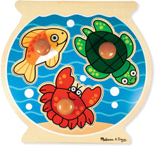 Load image into Gallery viewer, Melissa and Doug Jumbo Knob Puzzle - Fish Bowl