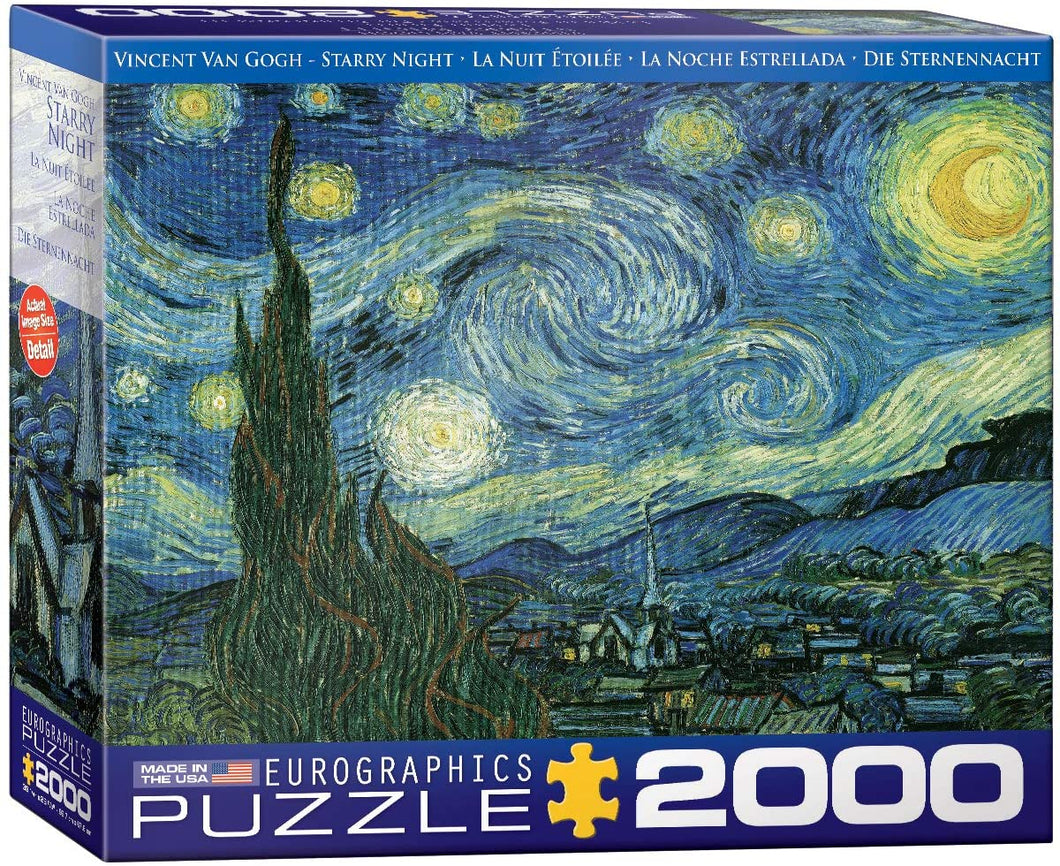 Eurographics 2000 Piece Jigsaw Puzzle - Van Gogh's Starry Night