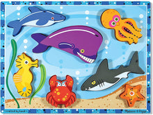 Load image into Gallery viewer, Melissa and Doug Wooden Chunky Puzzle - Sea Creatures