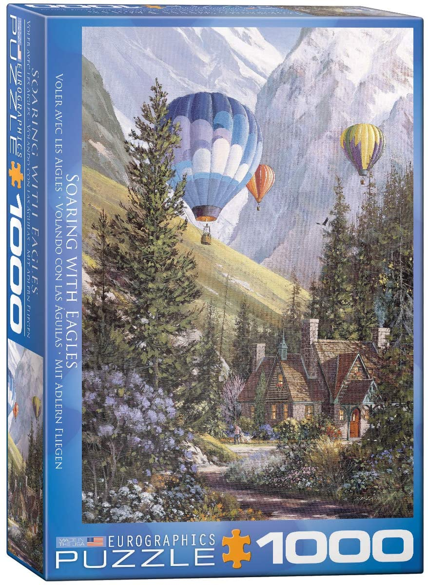 Eurographics 1000 Piece Jigsaw Puzzle - Soaring With Eagles