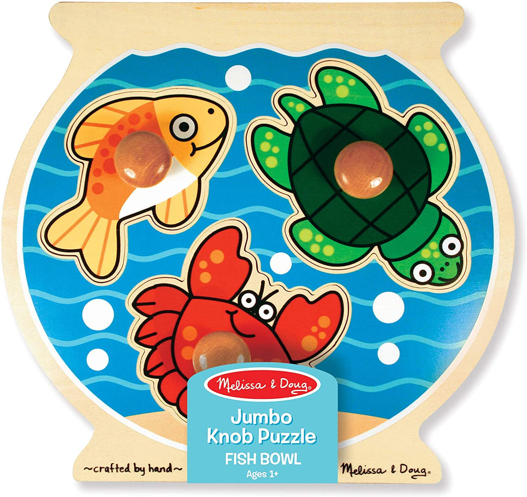 Melissa and Doug Jumbo Knob Puzzle - Fish Bowl