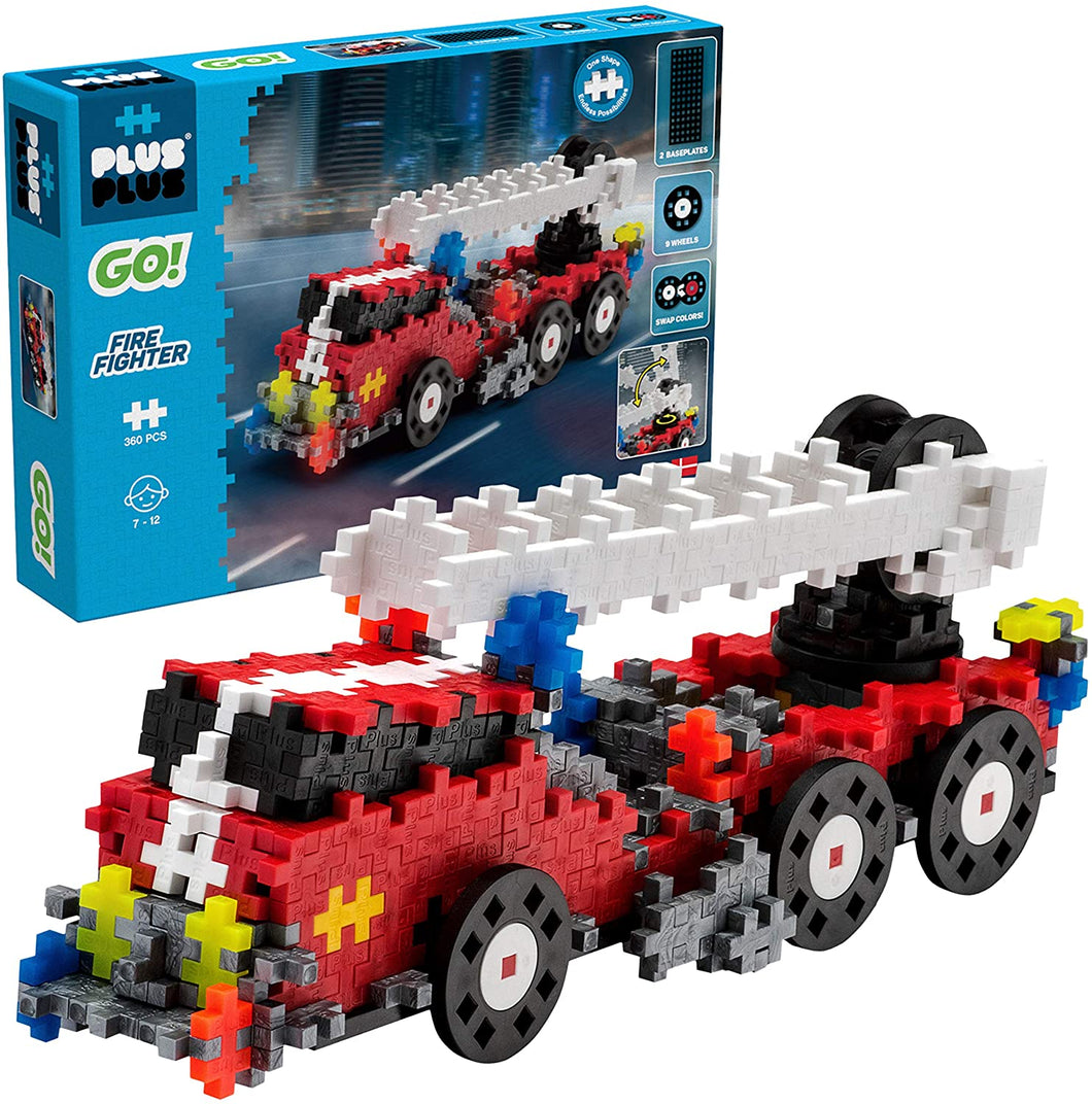 Plus Plus Go! 360 Piece Fire Truck Model Kit