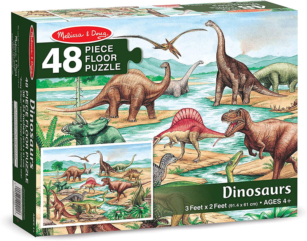 Melissa and Doug 48 Piece Floor Puzzle - Dinosaurs