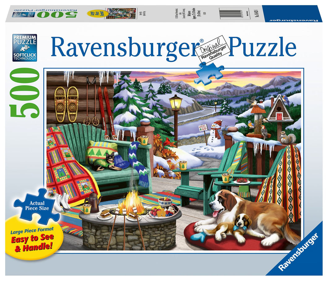 Ravensburger 500  Large Piece Jigsaw Puzzle - Ski All Day