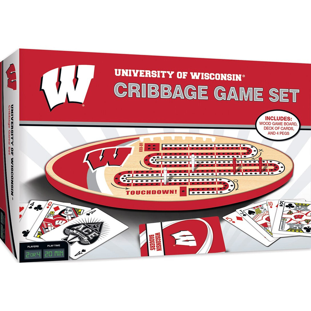 Wisconsin Badgers Cribbage Set