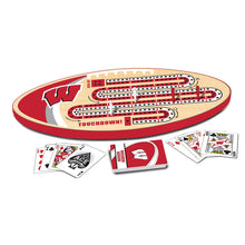 Load image into Gallery viewer, Wisconsin Badgers Cribbage Set
