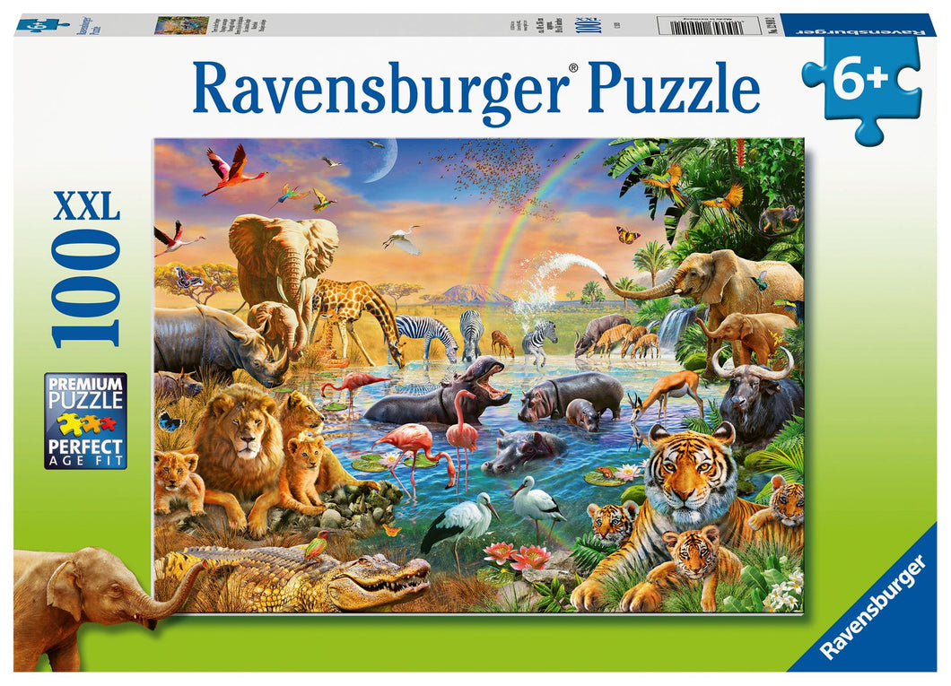 Ravensburger 100 Piece Jigsaw Puzzle - The Animal Waterhole