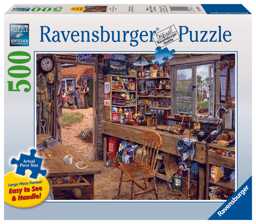 Ravensburger 500  Large Piece Jigsaw Puzzle - Dad's Shed