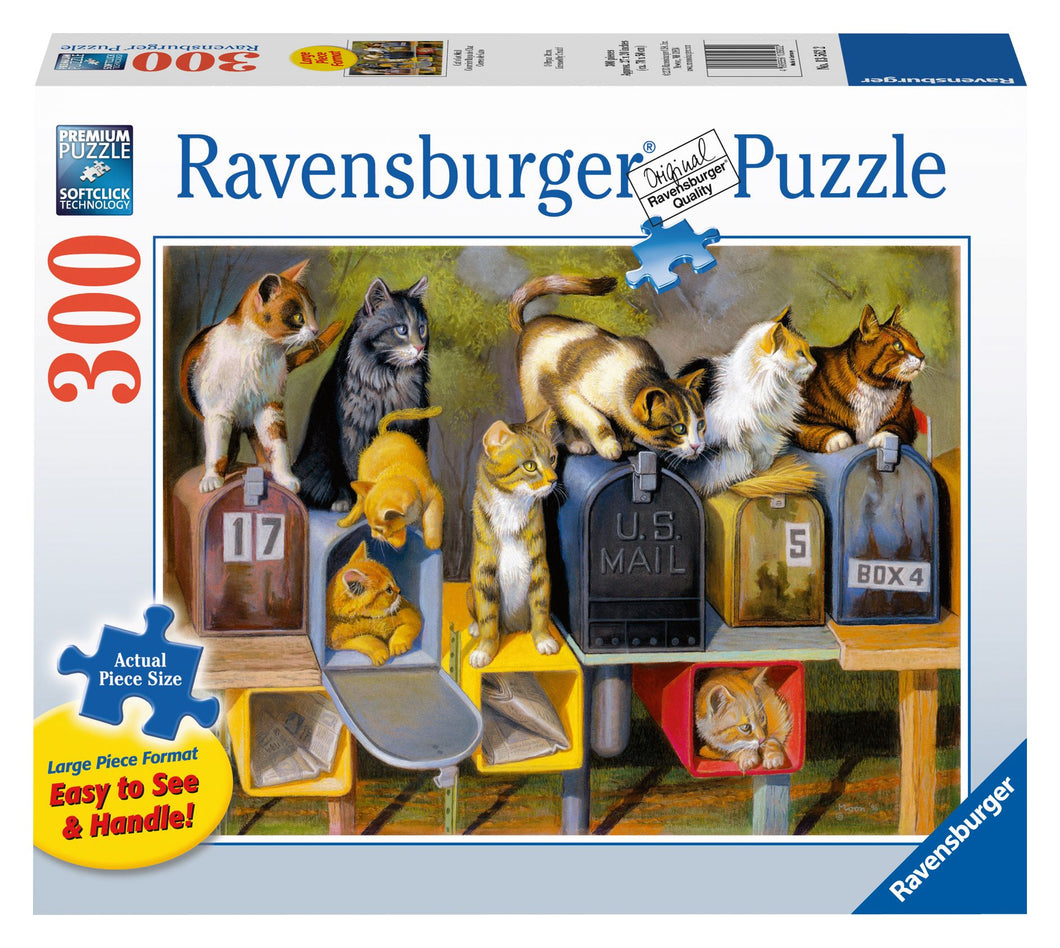 Ravensburger 300 Large Piece Jigsaw Puzzle - Cat's Got Mail
