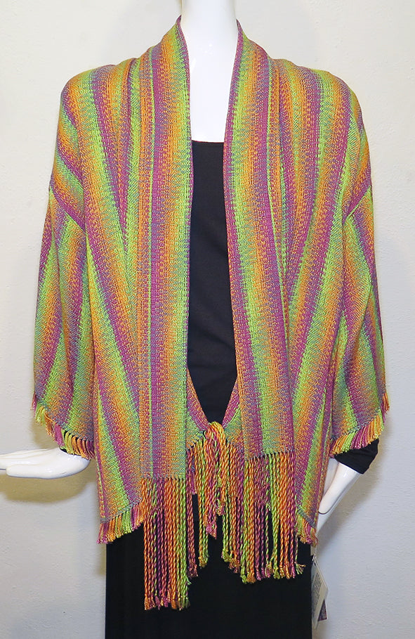 Teri Inman - Woven Crackle Jacket - Artemisia Artwear