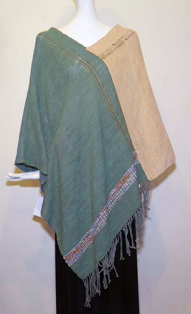 Fay Brooks - Two Color Poncho - Artemisia Artwear