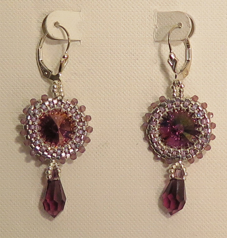 Hattie Newman - Swarovski Crystal and Bead Earrings - Artemisia Artwear
