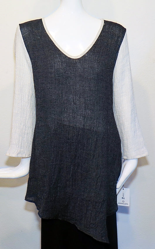 Khangura - Salt & Pepper Tunic - Artemisia Artwear