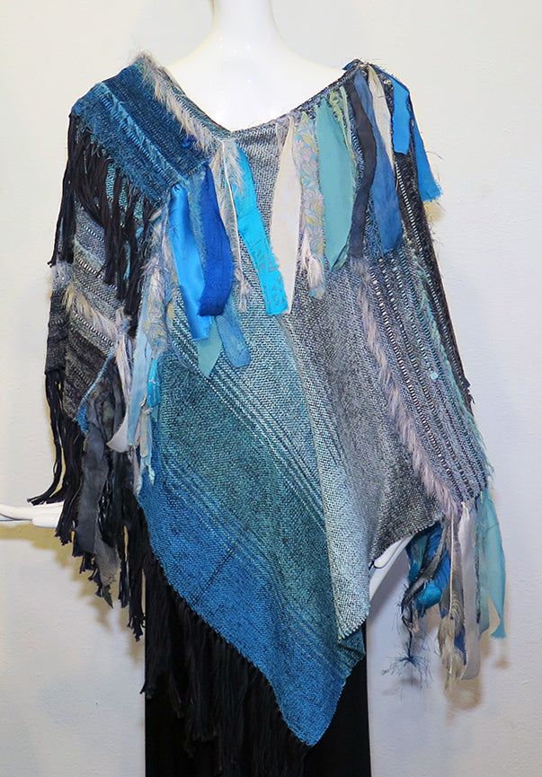 Richlyn MacArthur - String Theory Poncho - Artemisia Artwear