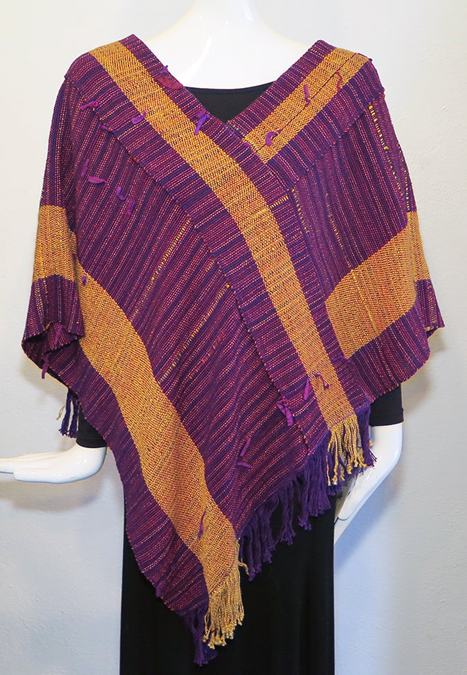 Cathy Swindle - Collared Poncho - Artemisia Artwear