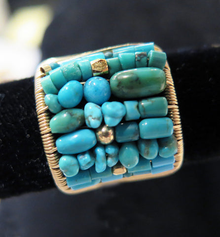 Tana Acton - Plaited Turquoise Ring
