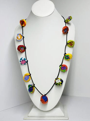 Ficklesticks - Millefiori Necklace - Artemisia Artwear