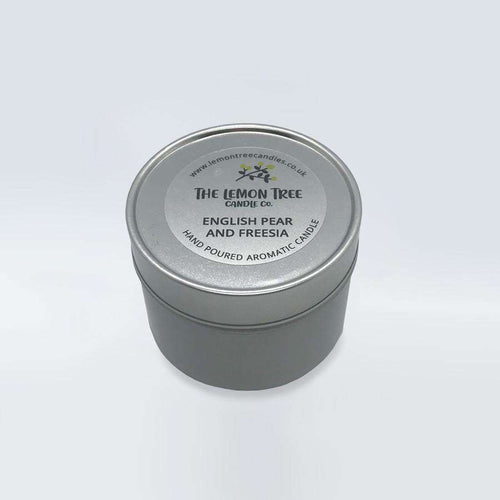 English Pear & Freesia Tin - The Lemon Tree Candle Company