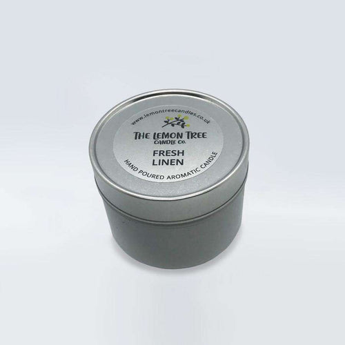 Fresh Linen Scented Tin - The Lemon Tree Candle Company