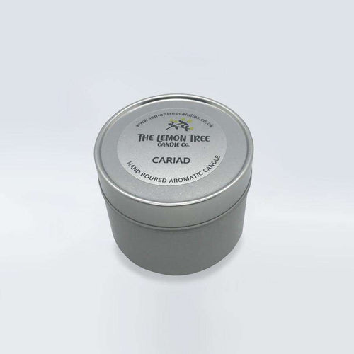Cariad Tin - Peony & Blush Suede - The Lemon Tree Candle Company