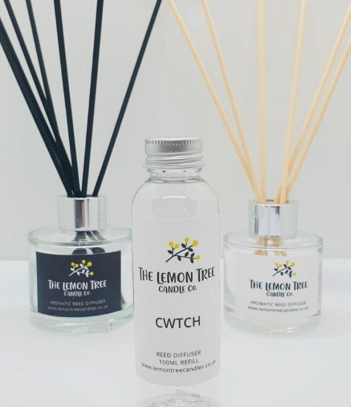 Cwtch - Dark Honey & Vanilla Diffuser Refill 100ml - The Lemon Tree Candle Company