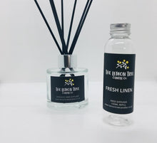 Load image into Gallery viewer, Fresh Linen Black Reed Diffuser - The Lemon Tree Candle Company