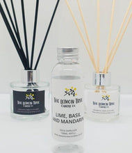 Load image into Gallery viewer, Lime, Basil and Mandarin Diffuser Refill 100ml - The Lemon Tree Candle Company