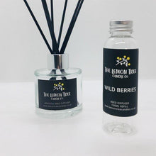 Load image into Gallery viewer, Wild Berries Black Reed Diffuser - The Lemon Tree Candle Company