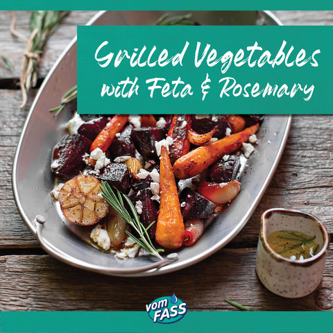 vomFass the woodlands Recipe Grilled Vegetables with Feta and Rosemary