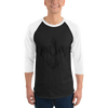 Flaming Fluer D' - 3/4 Sleeve Baseball-Tee