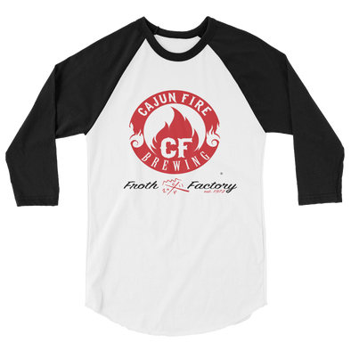 Cajun Fire Brewing Company - Froth Factory 3/4 sleeve raglan shirt