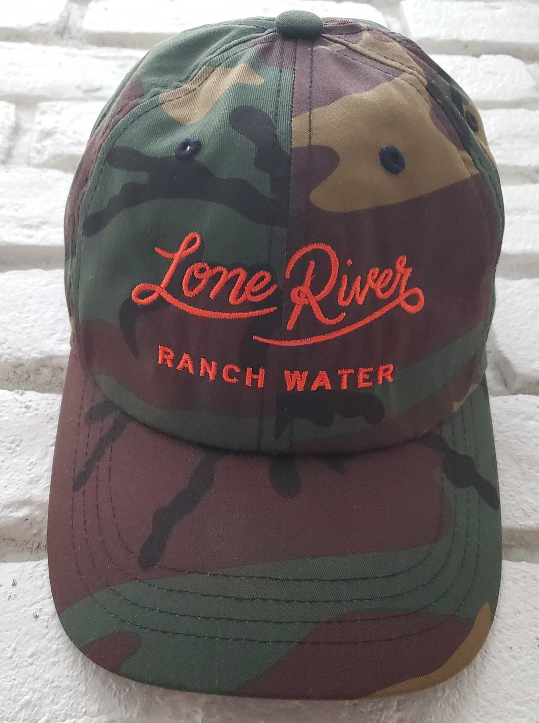 Retro Lone River Ranch Water Script Baseball Hat - Limited Edition Camo