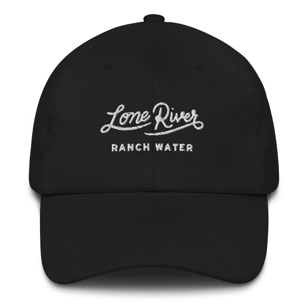 Retro Lone River Ranch Water Script Baseball Hat