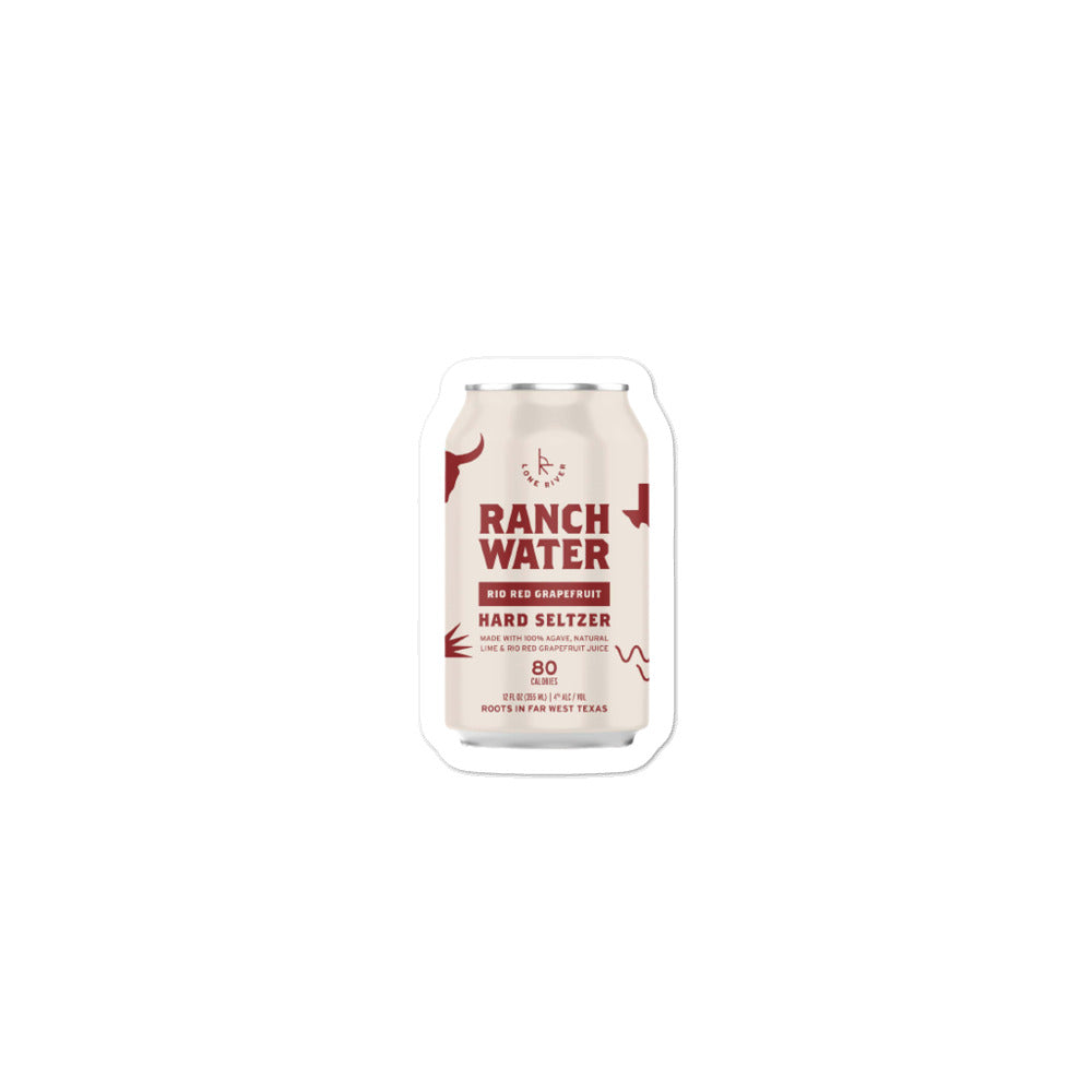 Lone River Rio Red Grapefruit Ranch Water Sticker
