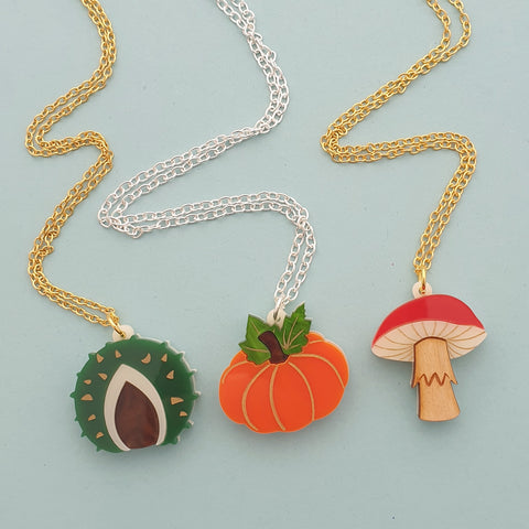 Mini Autumn Charm Necklace