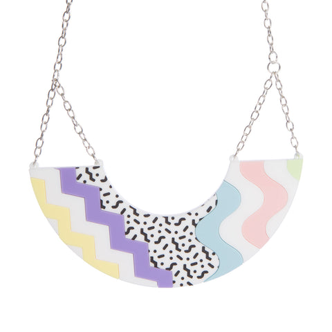 80's Pattern Necklace