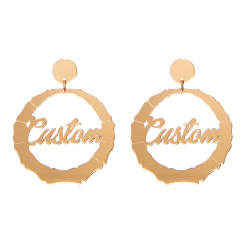Bamboo Name Earrings