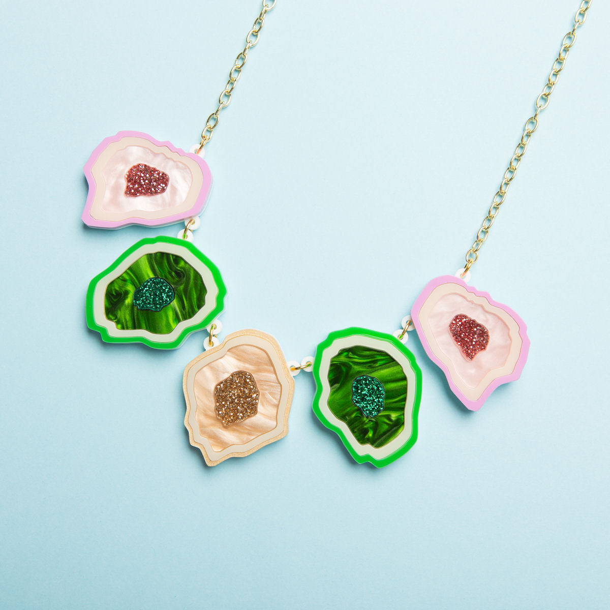 Sugar & Vice Agate Necklace social media