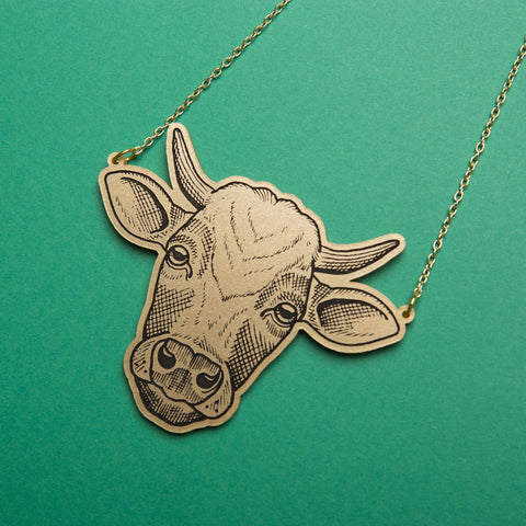 Amy Savage Cow Necklace