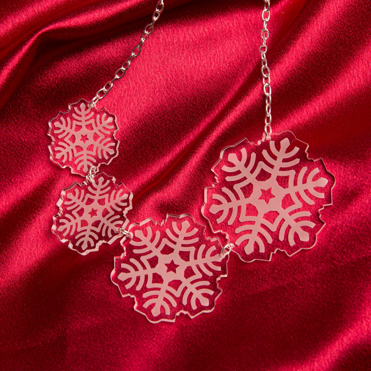 Sugar & Vice Christmas Snowflake Necklace