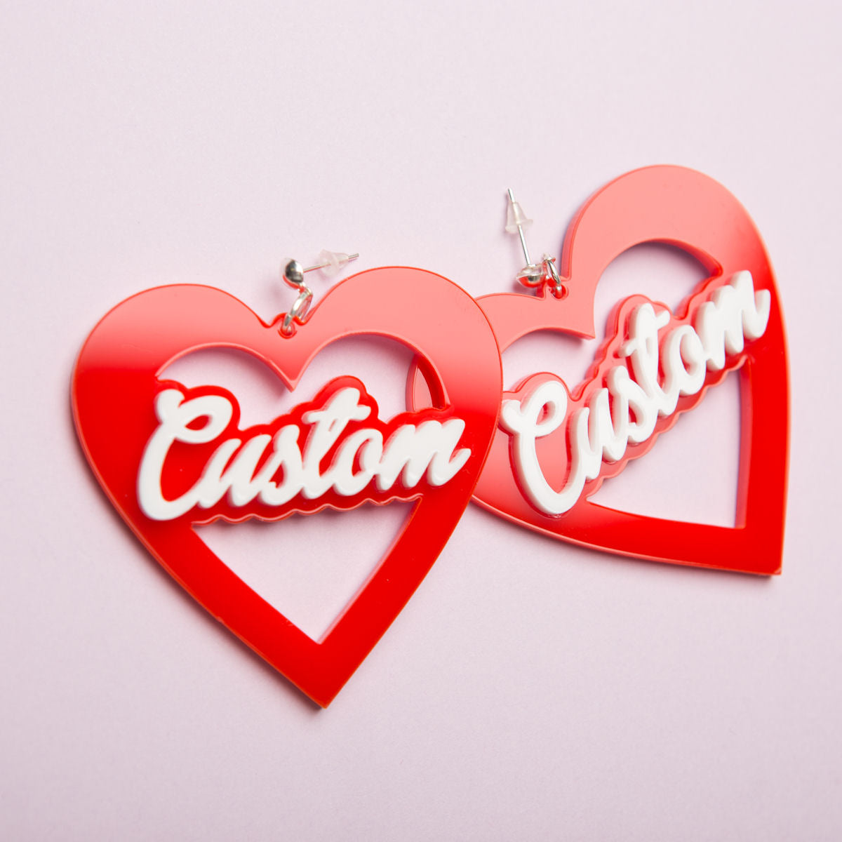 Sugar & Vice Custom Heart earrings social media