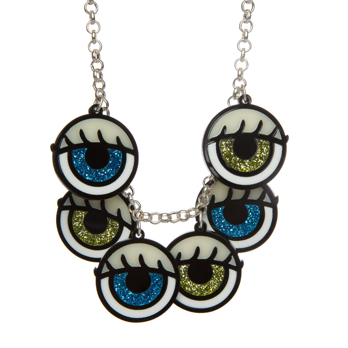 Dolls Eye Charm Necklace 1