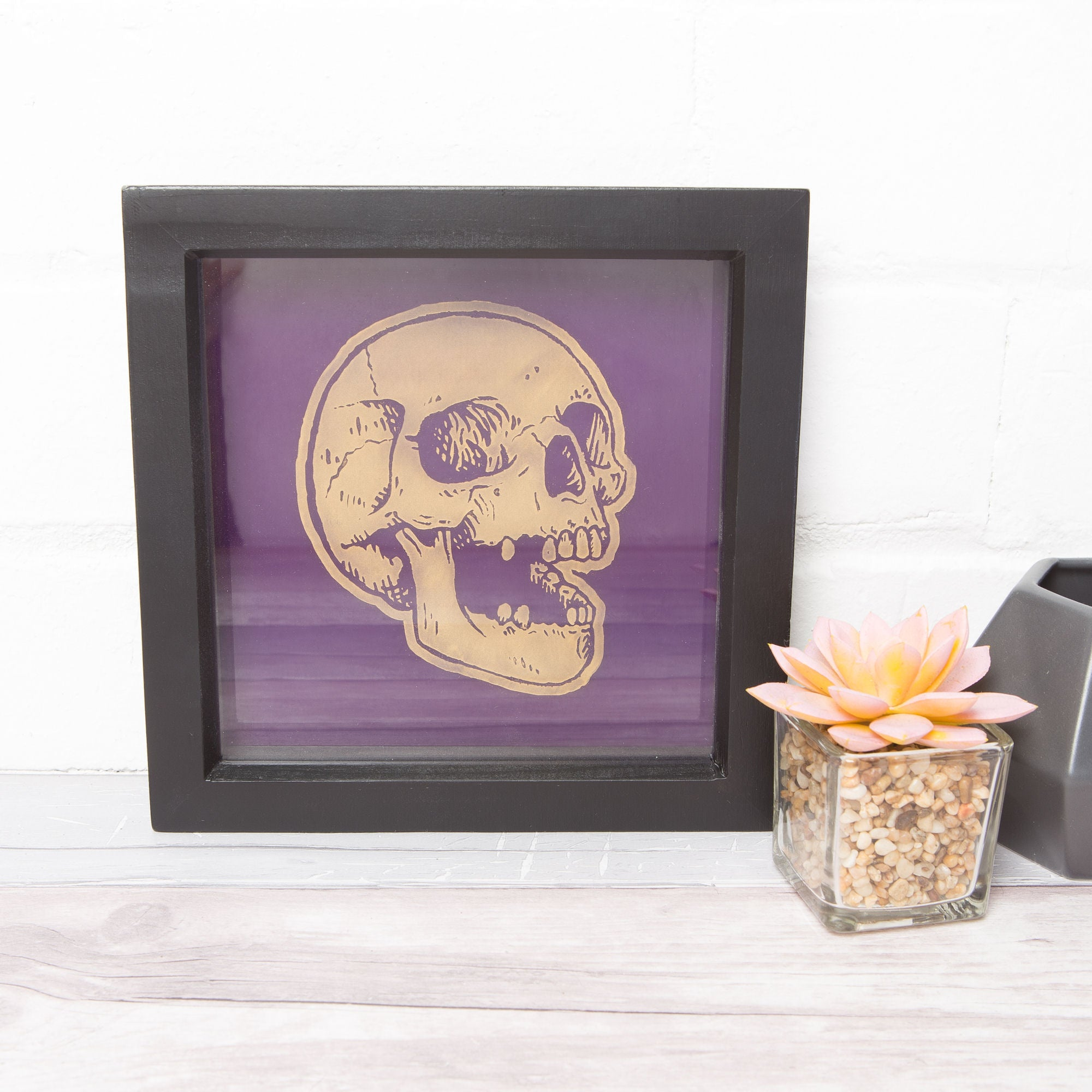 Sugar & Vice Golden Skull Wall Art