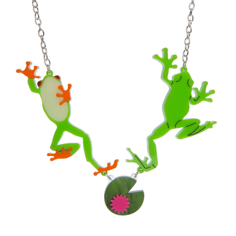 Jumping Frogs Necklace