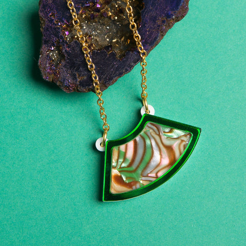 Green Marble Necklace