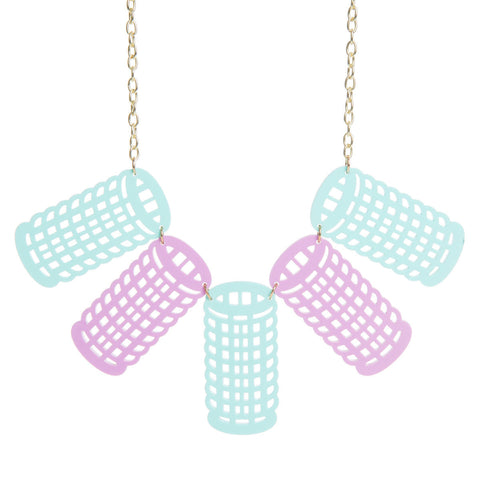 Hair Rollers Necklace