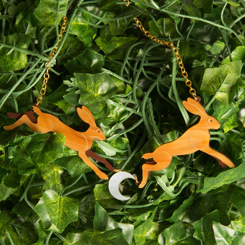 Leaping Hares Necklace