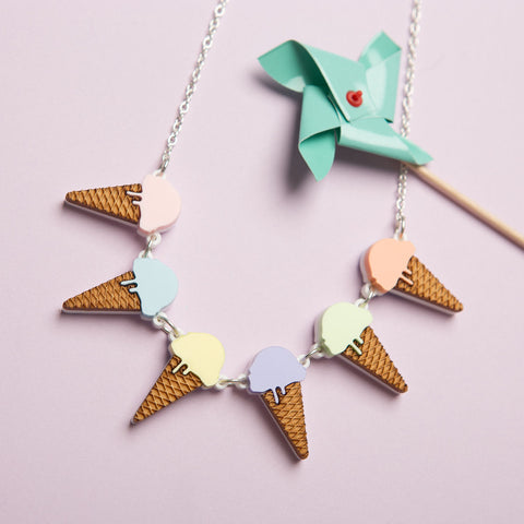 Ice Cream Bunting Necklace