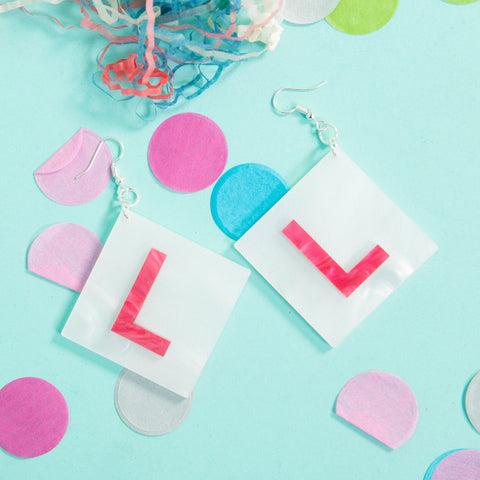 L Plate Earrings